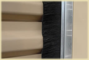 dust brushes on doors